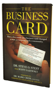 The Business Card Book Dr. Steve Steff Organizational Change